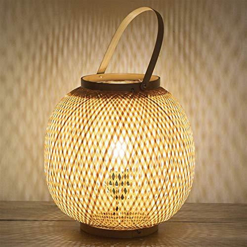 JSJJATQ Lámpara de Mesa Lámpara de Mesa China Bambú Art Garden Restaurante Restaurante Dormitorio Linterna Japonesa Lámparas Tatami Minimalism