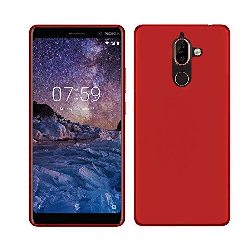 TBOC® Custodia Gel TPU Blu per Nokia 7 Plus (6.0 Pollici) in Silicone Ultra Sottile e Flessibile
