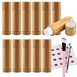 TIANZD 12 Stück 5 ml 5 g Leere Natur Bambus Lippenbalsam Lippenstift Lipstick Röhre Lip Tube...