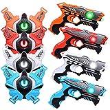 LUKAT Laser Tag Guns, Upgraded Version Ⅱ Infrared Laser Tag Guns with Vests 4 Pack for Kids Adults...