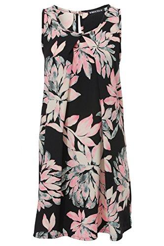 Miss Via Ärmelloses Kleid mit Blumen-Muster,Flower Power