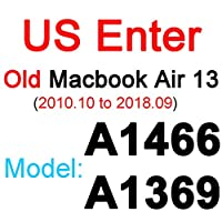 for MacBook Pro 13 15 17空気13 11 12網膜タッチクリアEU US UK A2179 A2337 A2338 20フィルムスキンTPUシリコーン -US Old Air 13