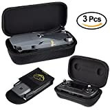 KUUQA Hardshell Carrying Case Compatible with Mavic Pro Drone Body and Remote Controller Transmitter with Fireproof Battery Bag
