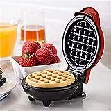 per Gofreras Eléctricas para Hacer Gofres Cake Pops Sandwichera Mini Dormidorio Casa 350w Máquinas para Hacer Desayuno
