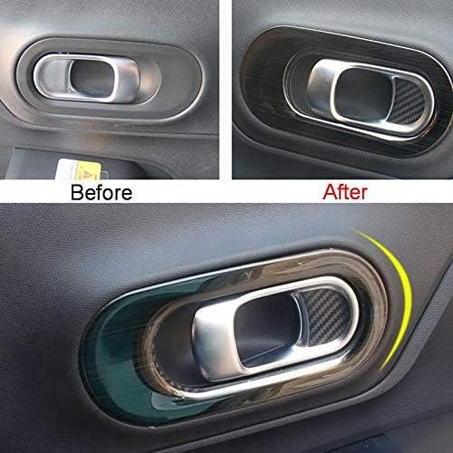 Moligh doll Cover Case per C5 Aircross 17-18 Car Styling 4PZ Cover Cover Maniglia nel Acciaio Inox Adesivi Argento