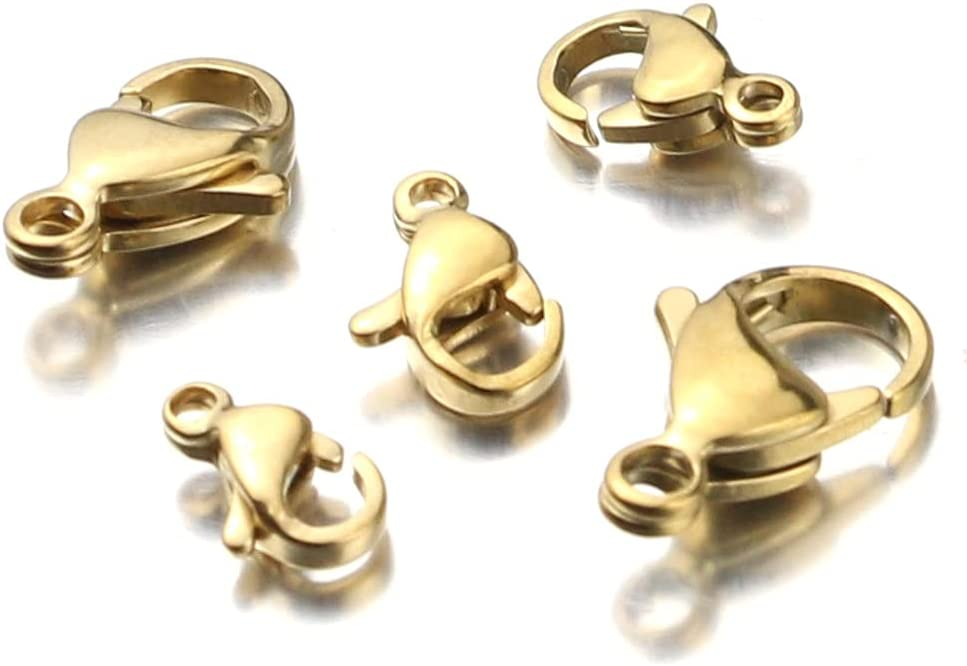 BOSAIYA PJ1 10pcs lot Stainless Steel 70% OFF Outlet Jewelr Clasp Hooks Long-awaited Lobster