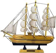 Embarcação Caravelas Barco de Madeira Velas + Mini Navio na Garrafa - 8cm
