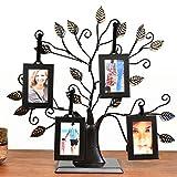 Thetford Design - Supporto portafoto a forma di albero genealogico, per le foto di famiglia, con 4cornici da appendere, di formato medio