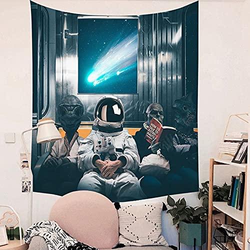 KHKJ Paño Colgante Astronauta Decoración del hogar Paño Toalla de Playa Encaje Colgante de Pared Decoración de Pared Abstracta Tapiz de Dormitorio A15 150x130cm