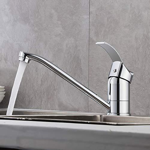 GAVAER Wasserhahn Küche,360° Schwenkbarer Küchenarmatur,Passend für Doppel Küchenspüle. Mischbatterien für Küche(Kaltes und Heißes Wasser), Verchromter Prozess,Messingbasis
