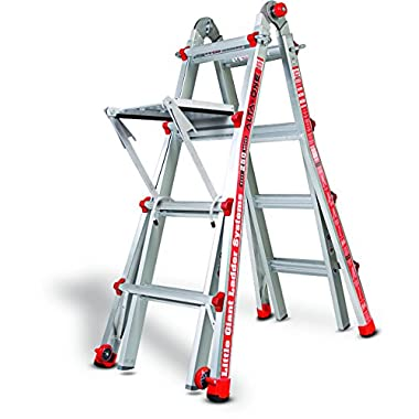 Little Giant Alta One 17 Foot Ladder with Work Platform (250-lb. Weight Rating, Type 1 14013-104)