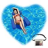 2021 Upgrade Pool Float Chair Inflatable Swimming Pool Float Lounge,1Pack Waterproof Bag,Blue