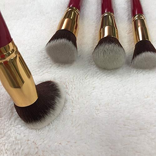 Pinceau de maquillage beauté, 4 lot de cosmétiques professionnels, rouge