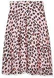 Tommy Hilfiger Midi Skirt Falda, Rosa (Leopard Print 699), Medium para Mujer