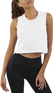 Women's Mesh Crop Top Sleeveless Racerback Workout Gym Shirt Loose Athletic Tank