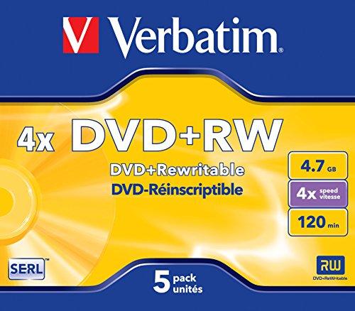 Verbatim 43229–5PK 432294,7GB 4x Dvd + RW JC–Dvd riscrivibile