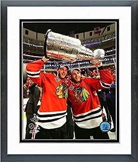 Jonathan Toews & Patrick Kane Chicago Blackhawks 2015 Stanley Cup Trophy Photo (Size: 12.5