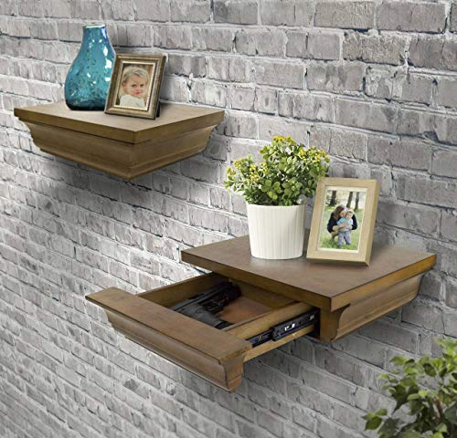 American Furniture Classics Model 433 Set of Two Decorative Wall Shelves one with Hidden Gun...