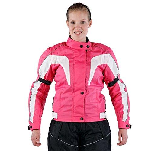 Lemoko Damen Textil Motorradjacke pink Gr L
