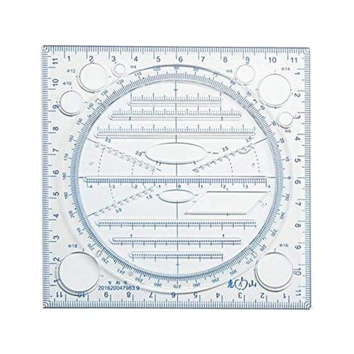 SM SunniMix Plantillas de Geometría Rotatoria Plantilla de Dibujo Reglas Geométricas Herramienta Estacionaria