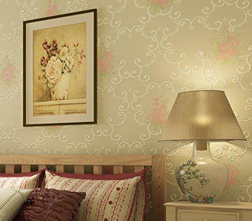 Longless Tapeten, grünen, Vliesstoff, Tapeten, 3D, Wohnzimmer, Schlafzimmer, TV, Hintergrund, Hintergrundbild, 10*0.53M