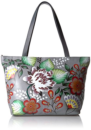 HAND-PAINTED PREMIUM HANDBAG: Art-inspired handbags for women; this premium leather large tote gets softer and more supple with use; top zipper entry and two rear zippered pockets keeps contents securely in place GENUINE LEATHER: Pliant and organic 1...
