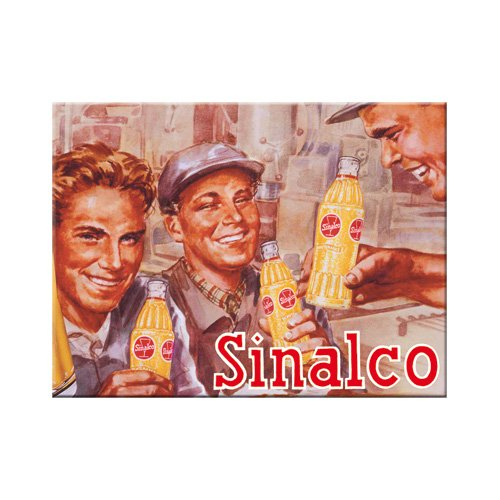 Nostalgic-Art 14051 Sinalco Bauarbeiter, Magnet, 8 x 6 cm