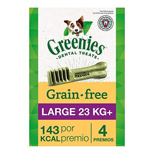 Greenies Snack Dental 100% Natural Grain free para Perros Grandes (Pack de 6 x 170g)