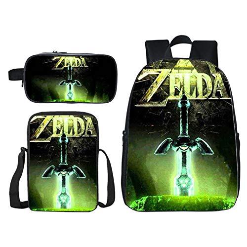 Ylight Anime The Legend of Zelda Backpack Boys Girls School Bag Women Men Travel Backpack Laptop Backpack,A,16in