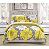 Chic Home Chase Yellow Reversible 7-Piece Bed in a Bag Quilt Set King