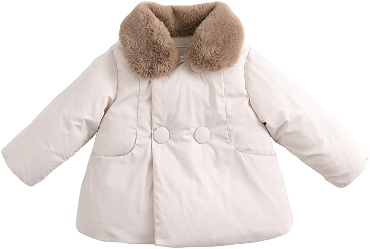 marc janie Girls' Winter Fleece Toddler Spring new work supreme Lined Jacket Girls Baby