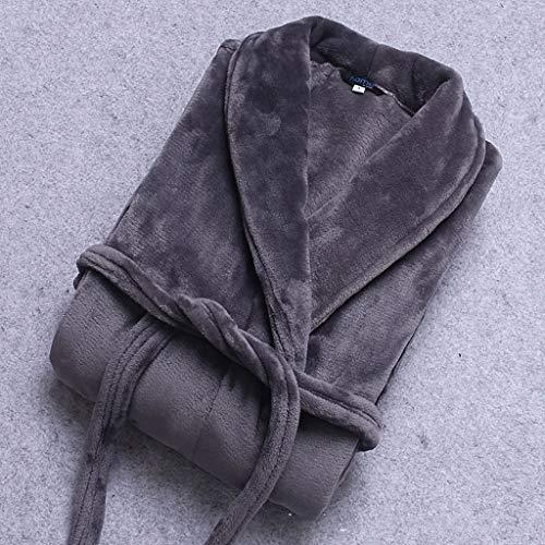 SCDZS Camisón grueso cálido pijama de invierno bata de franela gruesa alargada pareja camisón para mujer de forro polar coral ropa de hogar (color: E, tamaño: mediano)