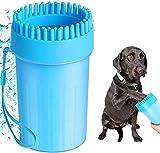 sufus pulitore della zampa del cane, pulizia zampe per cani portatile, spazzola per animali, pet foot cup, pulisci zampe cane per artigli sporchi toelettatura, massaggio(blu, taglia m)