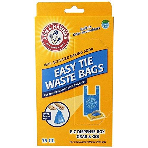 150-Pack, Blue Easy Tie Waste Bags