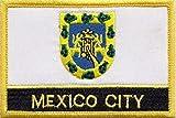 Mexiko-Stadt Flagge bestickt Patch Plakette eckig