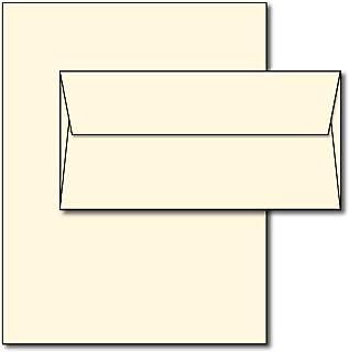 کاغذ و کاغذ پاکت نامه ای خالص - رنگ کرم طبیعی سفید سفید - 40 مجموعه - اندازه مجاز منحصر به فرد (7 × 10) کاغذ با پاکت های متناسب