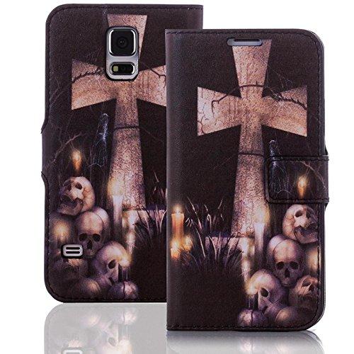numerva Handyhülle kompatibel mit Huawei Ascend P6 Hülle [Kruzifix Muster] Hülle Ascend P6 Handytasche