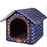 L.TSA Cama para Mascotas Perrera Cálida Arena para Gatos Casa para Perros para Perros pequeños medianos Perreras de Viaje Productos para Mascotas (Color: Azul, Tamaño: XXL)