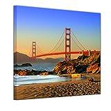 Bilderdepot24 Bild auf Leinwand | Golden Gate Bridge in