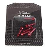6pcs Mountain Road MTB bicicleta bicicleta M5* 18MM vástago pernos de acero (rojo)