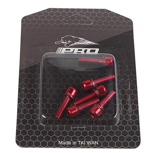 ETbotu Viti Manubrio Bicicletta IIIPRO MTB Viti Colorate placcate in Titanio Viti Riser con Attacco M5 * 18MM Rosso