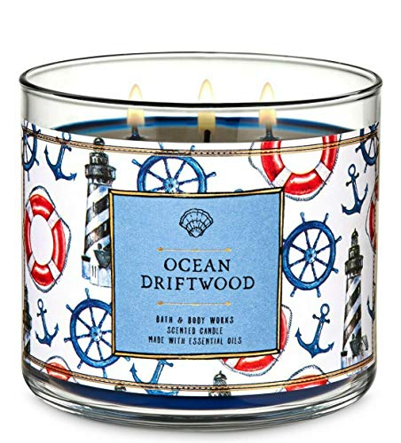 White Barn Bath & Body Works Ocean Driftwood 3 Wick Scented Candle 14.5 oz