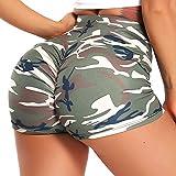 FITTOO Pantalones Cortos Leggings Mujer Mallas Yoga Alta Cintura Elásticos #2 Camuflaje S