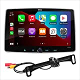 BOSS Audio Systems BCPA9RC Apple CarPlay Android Auto Car Multimedia Player - Single Din Chassis with 9 Inch Capacitive Touchscreen, Bluetooth, No DVD, Multicolor Illumination, Rear Camera Included