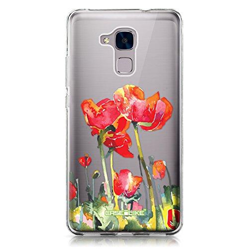 CASEiLIKE Funda Honor 5C, Carcasa Huawei Honor 5C / Honor 7 Lite / GT3, Acuarela Floral 2230, TPU Gel Silicone Protectora Cover