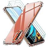 ivoler Funda para Xiaomi Redmi 9T con 3 Unidades Cristal Templado, Carcasa Protectora Anti-Choque Transparente, Suave TPU Silicona Caso Delgada Anti-arañazos Case