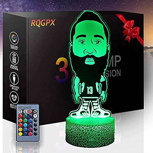 3D ilusión LED noche lámpara baloncesto amantes o regalos para adolescentes niñas 16 colores cambio automático interruptor táctil decoración lámparas regalo cumpleaños