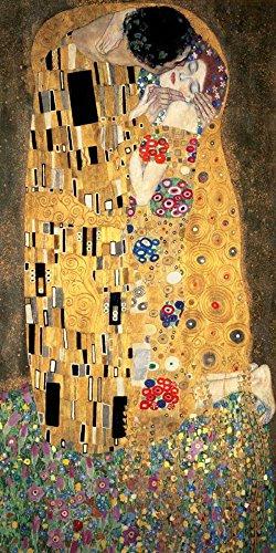 Gustav Klimt The Tree of Life l'arbre de la vie 100 x 50 cm cadre impression sur Panneau en bois MDF bord noir