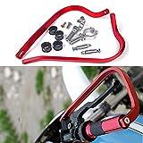 Triclicks Paramani per Moto/Motocross Manubrio 22/28mm Alluminio Universale Rosso