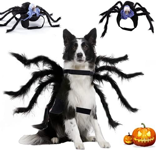 Dorakitten Haustier Hund Katze Halloween Spinnenkostüm Dekoration -Spinnenkostüm Skelett Halloween Cosplay Partys Kostüm Kleidung Flexible Spinnenbeine Kostüme für Mittel Große Hunde & Katzen